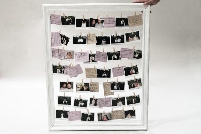 Diy hochzeit g stebuch selbst gestalten polaroid for Polaroid fotos deko