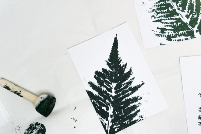 Florale DIY Karten mit Farn Motiv