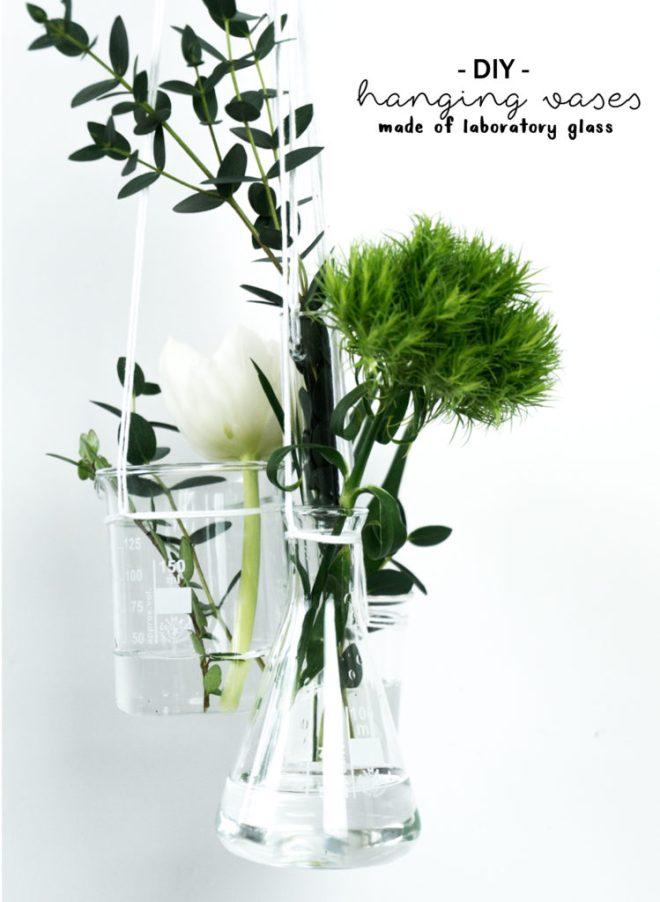 schereleimpapier DIY und Upcycling Blog aus Berlin - kreative Tutorials für Geschenke, Möbel und Deko zum Basteln - DIY Vase aus Laborgläsern selbstgemacht