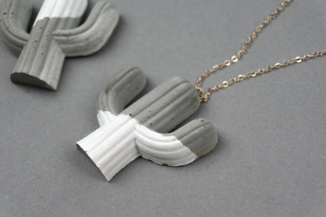 schereleimpapier DIY und Upcycling Blog aus Berlin - kreative Tutorials für Geschenke, Möbel und Deko zum Basteln – Beton Deko Kaktus Kette