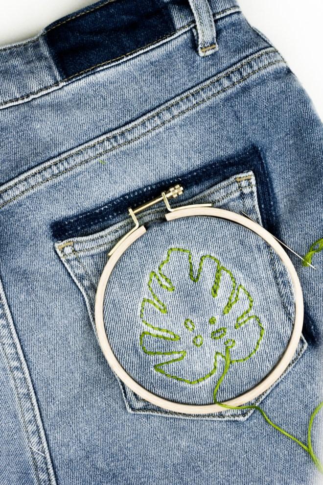 Mein Jeans Projekt: Hose, florale Ideen