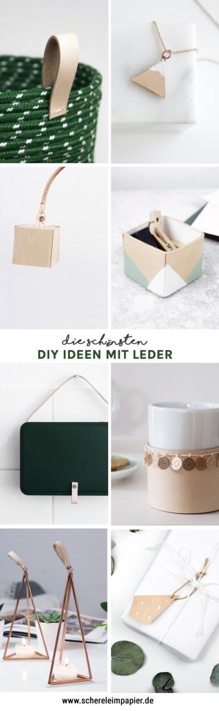 DIY Ideen mit Leder - - schereleimpapier DIY und Upcycling Blog aus Berlin - kreative Tutorials für Geschenke, Möbel und Deko zum Basteln -