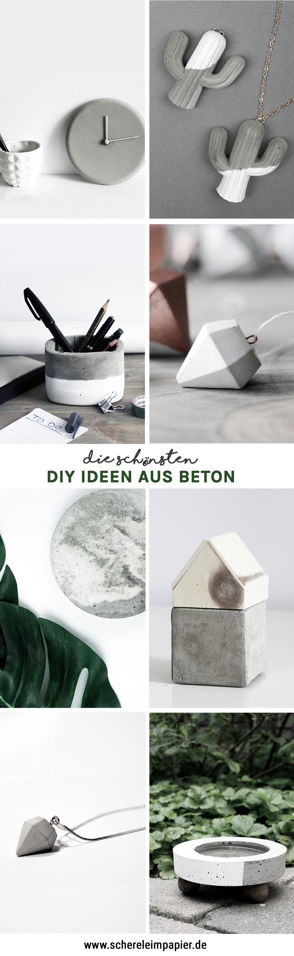 diy ideen aus beton- schereleimpapier DIY und Upcycling Blog aus Berlin - kreative Tutorials für Geschenke, Möbel und Deko zum Basteln -