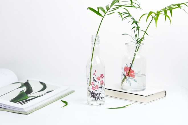 Easy Upcycling Idee mit Altglas - - schereleimpapier DIY und Upcycling Blog aus Berlin - kreative Tutorials für DIY Geschenke, DIY Möbel und DIY Deko zum Basteln