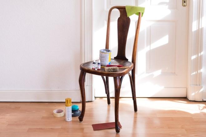 Upcycling Möbel DIY alte Stühle aufarbeiten - schereleimpapier DIY und Upcycling Blog aus Berlin - kreative Tutorials für DIY Geschenke, DIY Möbel und DIY Deko zum Basteln