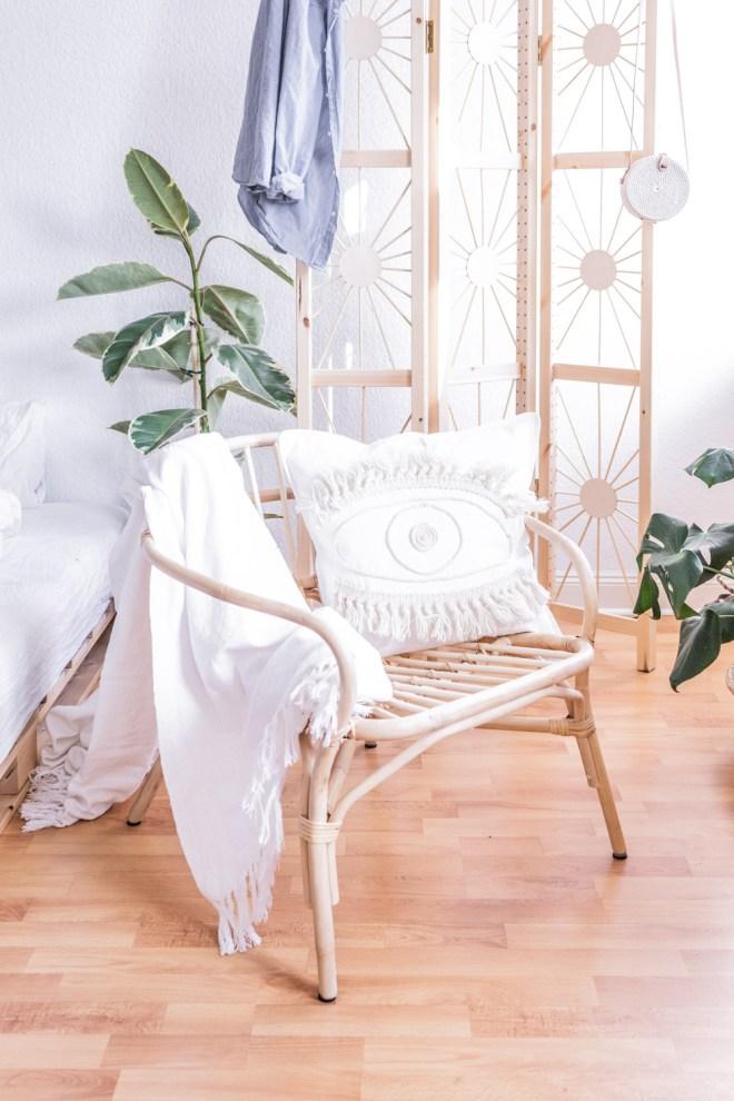 DIY Boho Kissen gestalten -schereleimpapier DIY und Upcycling Blog aus Berlin - kreative Tutorials für DIY Geschenke, DIY Möbel und DIY Deko zum Basteln