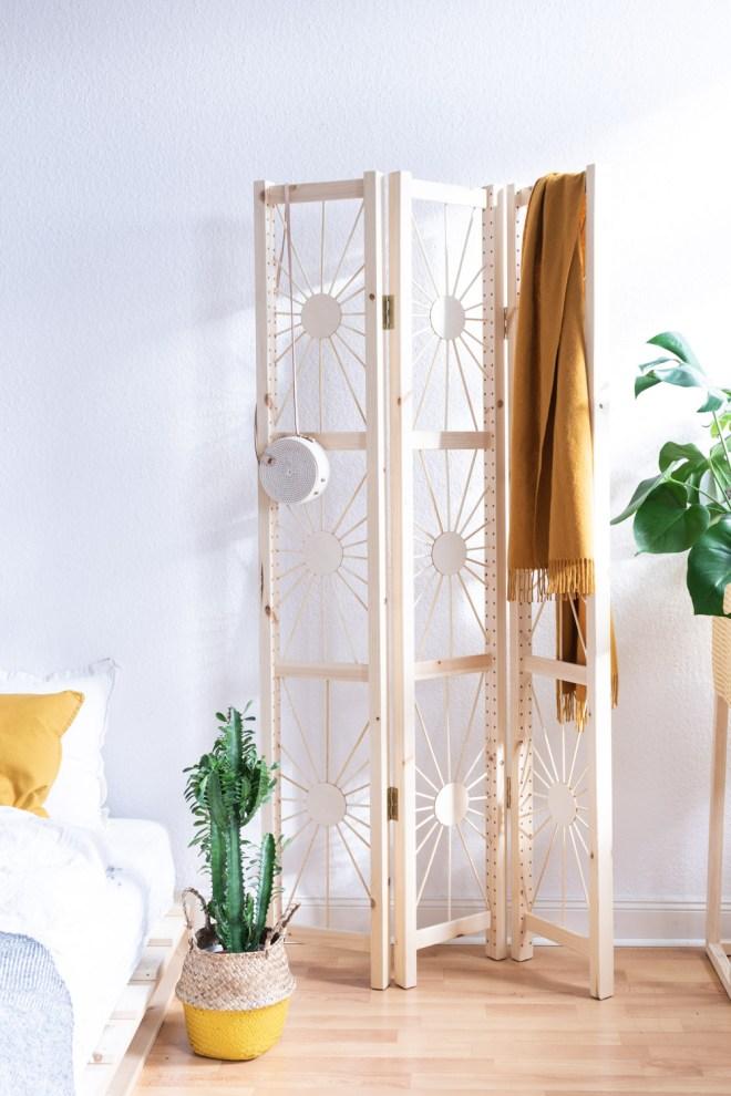 Bekannt Paravent selber bauen - mein DIY Raumteiler im Ethno Design | WG57