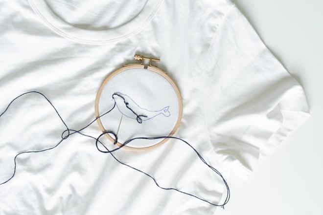 DIY T Shirt sticken embroidery schereleimpapier DIY und Upcycling Blog aus Berlin - kreative Tutorials für DIY Geschenke, DIY Möbel und DIY Deko zum Basteln