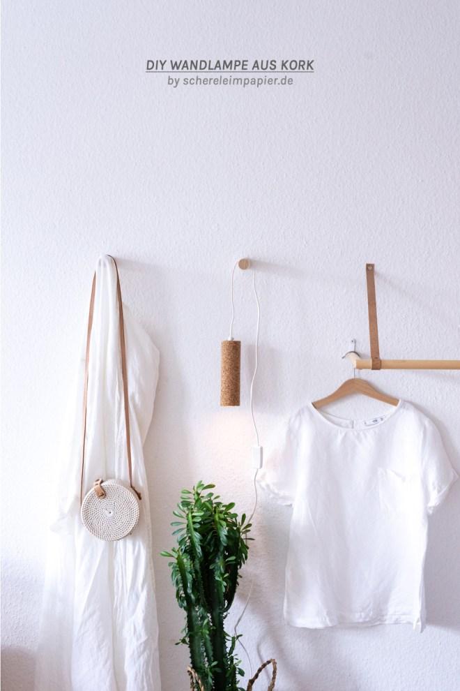 sDIY Lampe basteln - Upcycling mit Kork schereleimpapier kreative Tutorials für DIY Geschenke, DIY Möbel und DIY Deko zum Basteln
