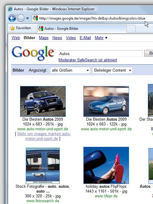 google-bildersuche-blau