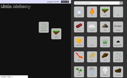 Spielfeld mit 20 erzeugten Elementen