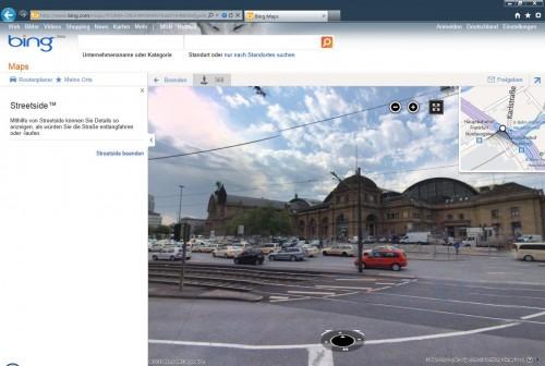 Bing Streetside: Frankfurt Hauptbahnhof