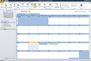 Kalender in Outlook 2010