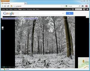 Foto in Google Maps: Winter im Meerbuscher Wald, von Panoramio