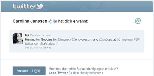 Twitter: Carolina Janssen @lija hat dich erwähnt.