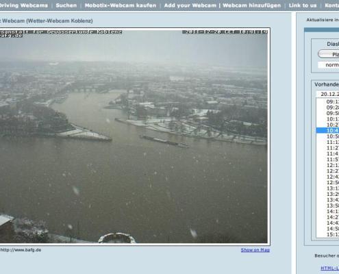 Webcam in Koblenz mit Blick aufs Deutsche Eck