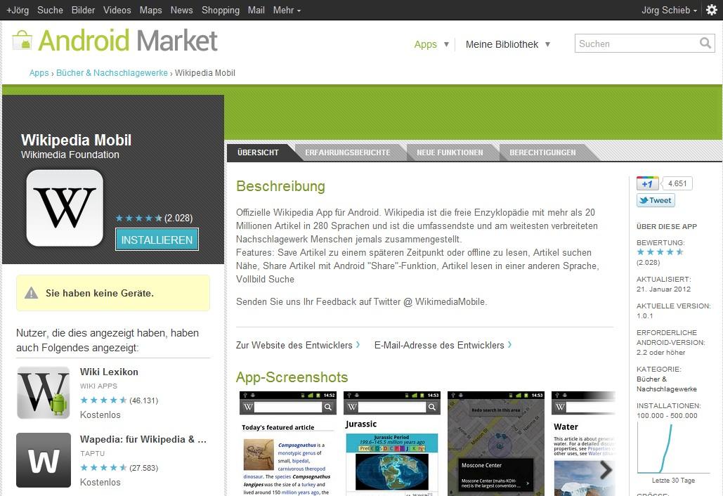 Android Market Am Pc Durchst Bern