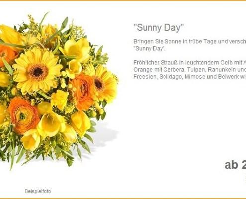 Fleurop: Blumenstrauß Sunny Day