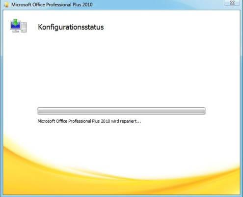 Microsoft Office wird repariert...