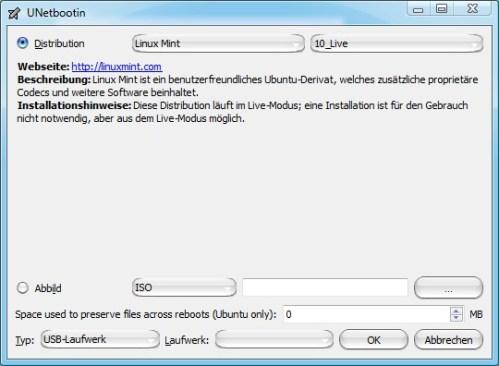 linux mint usb stick bootfähig machen