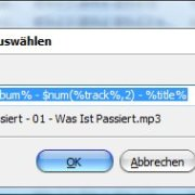 MP3Tag Tags zu Dateinamen konvertieren