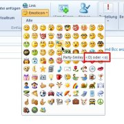 Windows Live Mail: Emoticon einfügen, Tastenkürzel