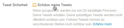 Twitter: Schütze meine Tweets