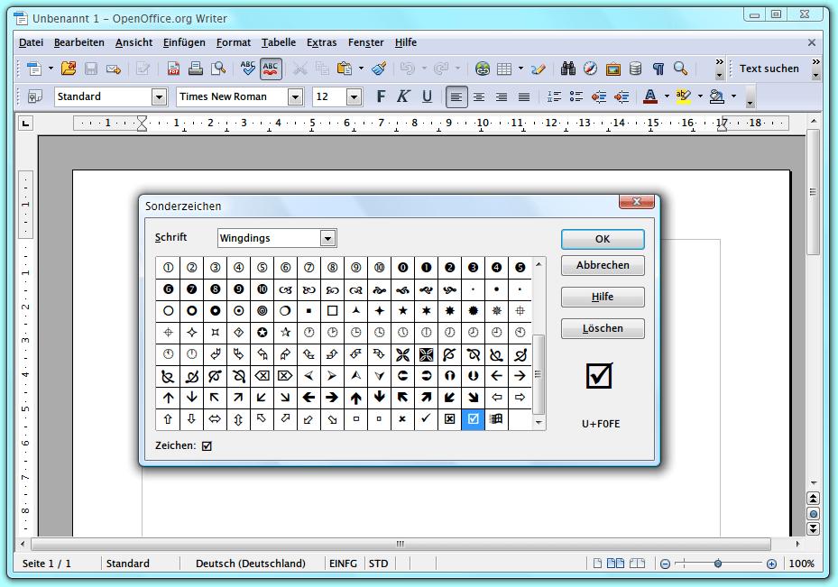 Open Office Symbole