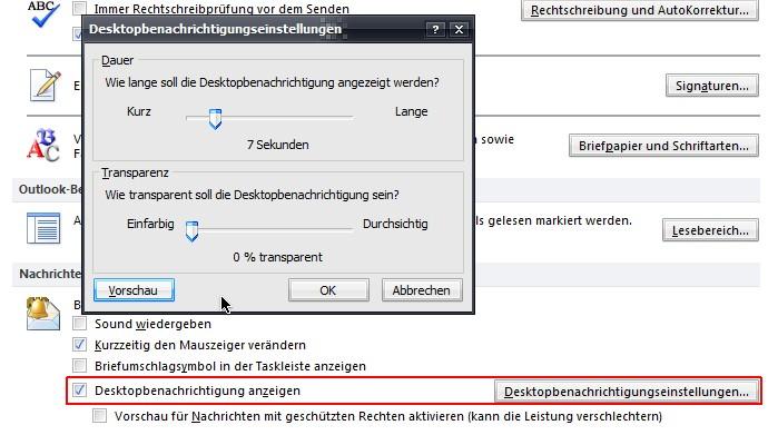 Outlook email hintergrund einstellen