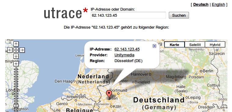Ip Adresse Lokalisieren