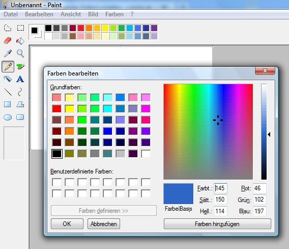 paint eigene farben mischen und zum zeichnen nutzen. Black Bedroom Furniture Sets. Home Design Ideas