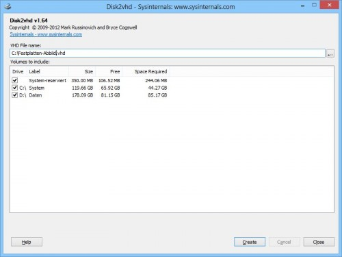 disk2vhd-festplatten