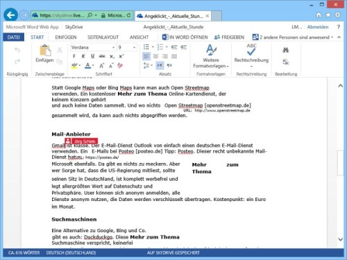 word-web-app-parallel-bearbeiten