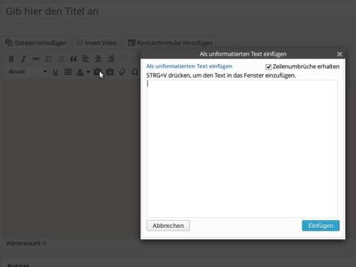 wordpress-nur-text-einfuegen-ohne-formatierung