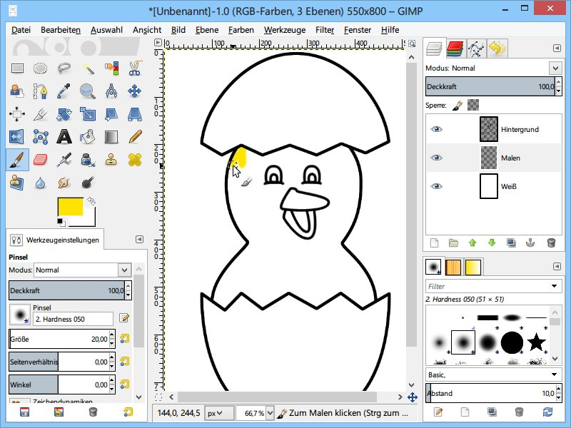 Malvorlagen am PC mit GIMP ausmalen | schieb.de