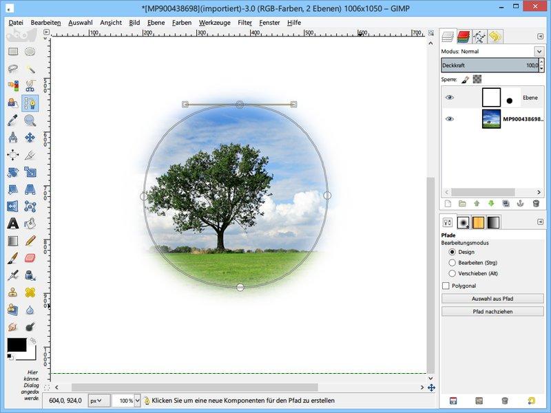GIMP: Foto auf eine bestimmte Kontur zuschneiden | schieb.de
