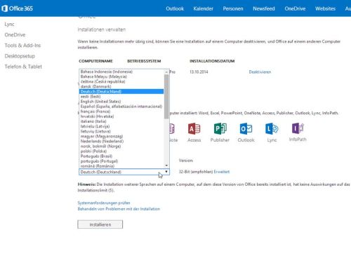 office365-sprachversionen