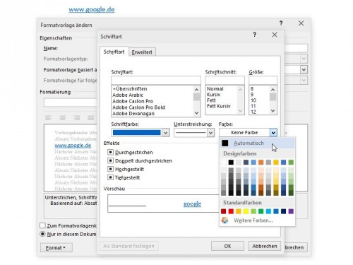 normalemail-dotm-hyperlink-unterstreichung-farbe