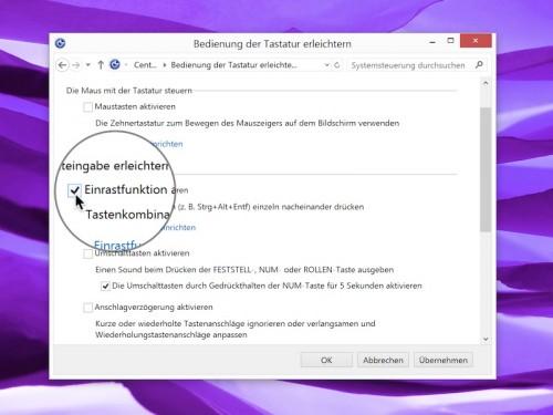 windows-systemsteuerung-einrastfunktion