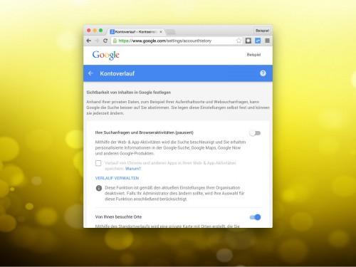 google-kontoverlauf