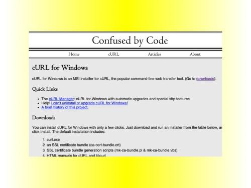 Curl-Befehl auch in Windows nutzen - schieb de