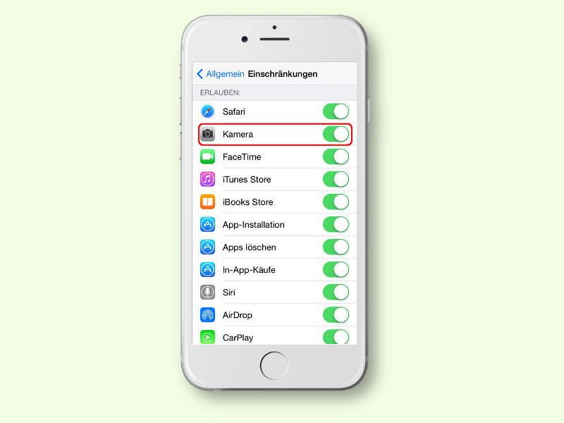iOS: Fehlendes Kamera-Symbol wieder sichtbar machen | schieb.de