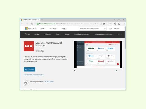 LastPass im Edge-Browser von Microsoft nutzen - schieb de