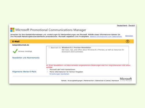 microsoft-newsletter-uebersicht