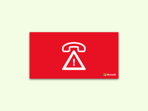 Microsoft Anrufe Melden