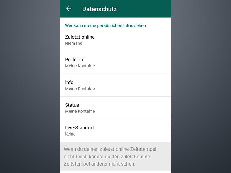 Profilbild Und Status In Whatsapp Verbergen Schiebde
