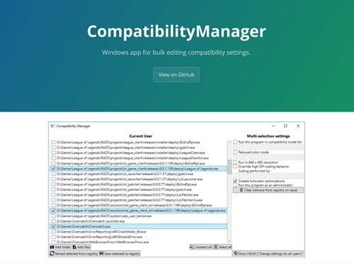compatibilitymanager
