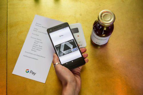 Google stellt seine neue Bezahl-App Google Pay am 26. Juni 2018 in Berlin vor. Foto: Stefan Hoederath/Google Kostenlose Verwendung bei redaktioneller Berichterstattung über Google bzw. Google Pay unter der Angabe des Credits: Stefan Hoederath/Google