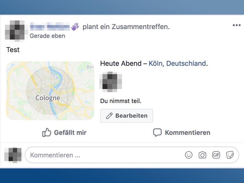 Facebook bekanntschaft treffen