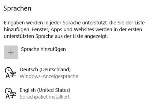 windows 10 tastatur sprache ändern